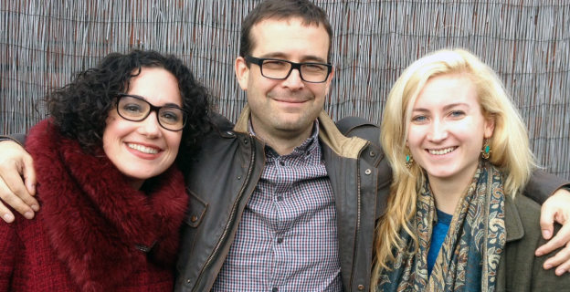 Rob Cutforth, Kate Feld and Abi Hynes